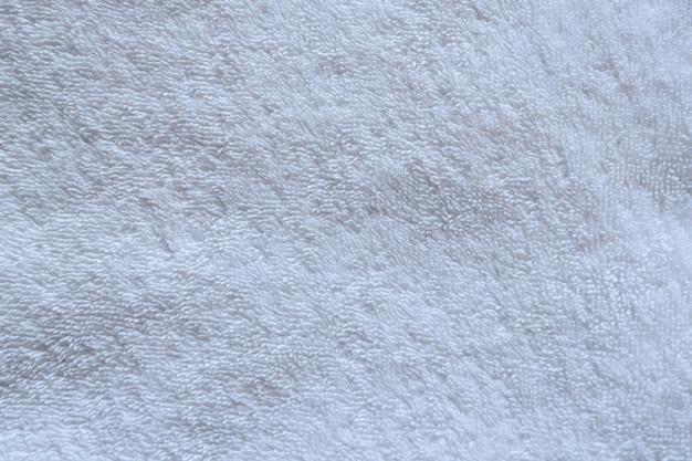 Close - up witte textuur van natuurlijke handdoek voor achtergrond.