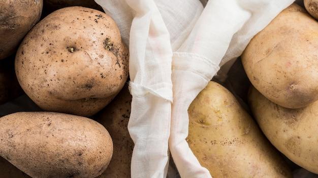 Close-up zakken aardappelen