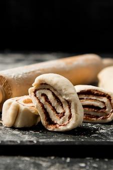 Close-up zelfgemaakte dessert