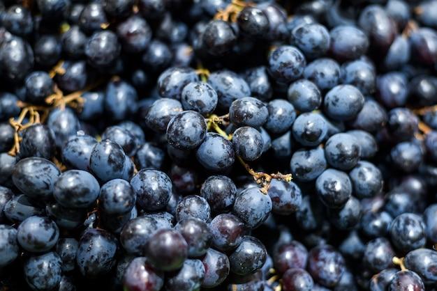 Close-up zwarte druiven achtergrond