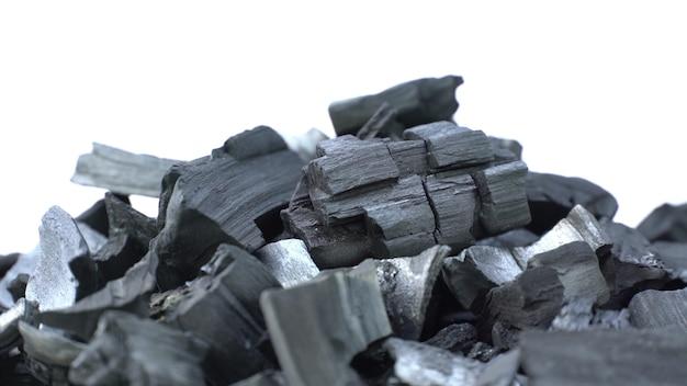 Close-up zwarte houtskool achtergrond.