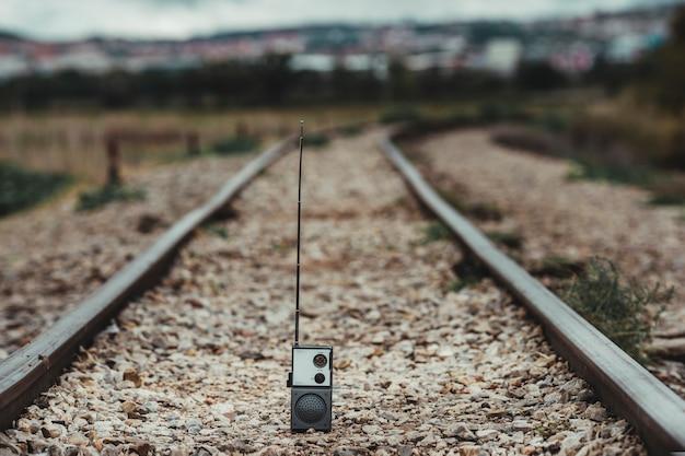 Close-upbeeld van een walkie-talkie