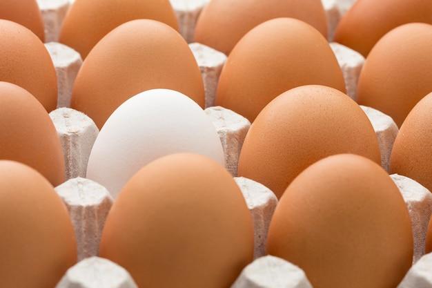 Close-upbekisting met eieren