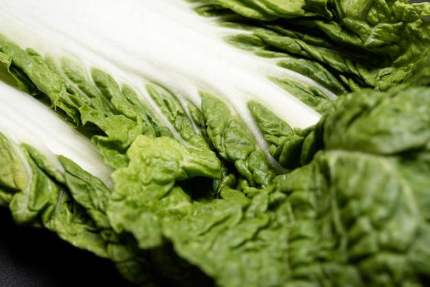 Close-upblad van salade