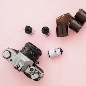Close-upcamera dichtbij fotografische film