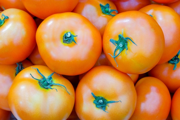 Close-upgroep van verse tomaat