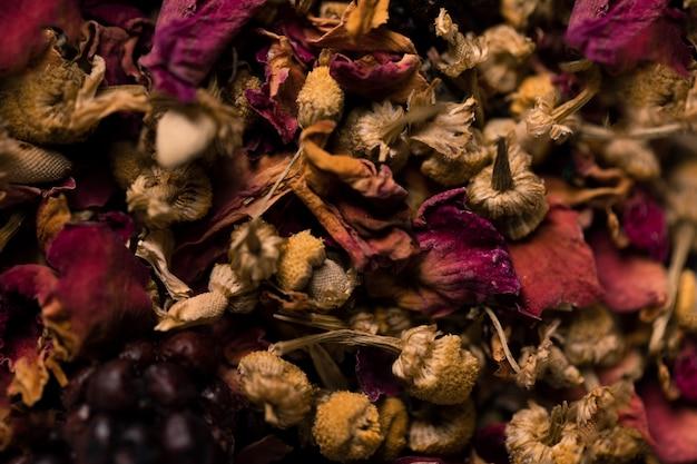 Close-upinzameling van aromatische bloemen