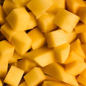 Close-upplakken van de achtergrond van de ananastextuur