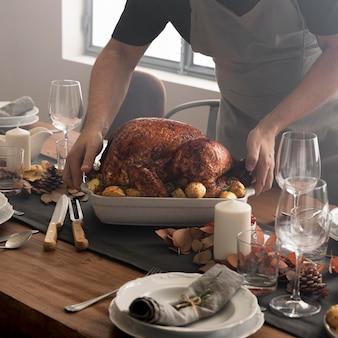 Close-upvoedsel voor thanksgiving day