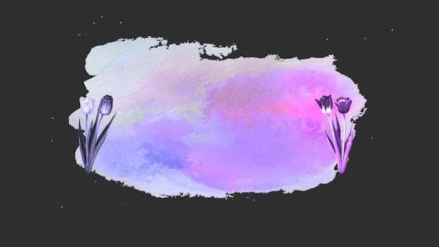 Closeup aquarel bloemen met glitters, bruiloft achtergrond. elegante en luxe pastel 3d-illustratiestijl voor bruiloft of romantisch thema