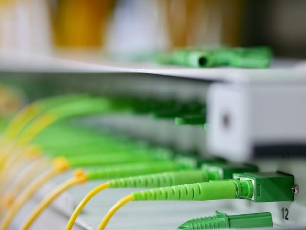 Closeup fiber optische connector