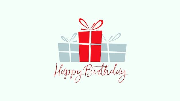 Closeup happy birthday tekst op witte achtergrond. luxe en elegante stijl 3d illustratie voor vakantie