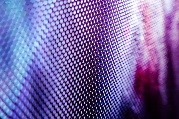 Closeup led wazig scherm. led soft focus achtergrond. abstracte achtergrond ideaal voor design.