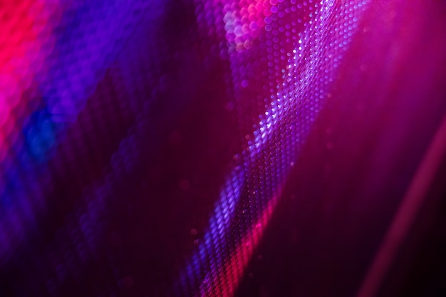 Closeup led wazig scherm. led soft focus achtergrond. abstracte achtergrond