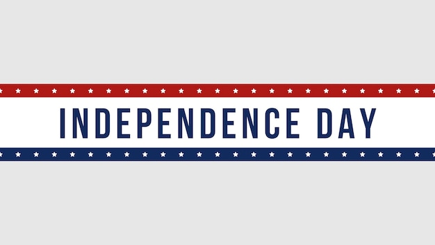 Closeup tekst independence day op vakantie achtergrond, nation day of usa. luxe en elegante 3d-illustratiestijlsjabloon
