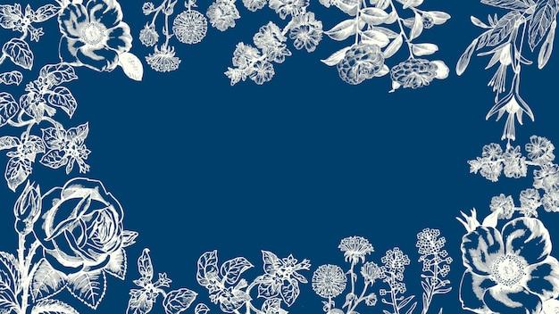 Closeup vintage zomerbloemen, bruiloft achtergrond. elegante en luxe pastel 3d-illustratiestijl voor bruiloft of romantisch thema