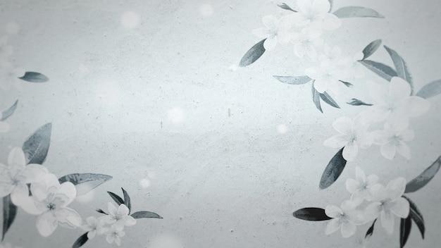 Closeup vogels op bomen op hout, bruiloft achtergrond. elegante en luxe pastelstijl 3d-illustratie