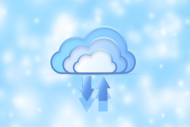 Cloud computing. cloud computing-concept