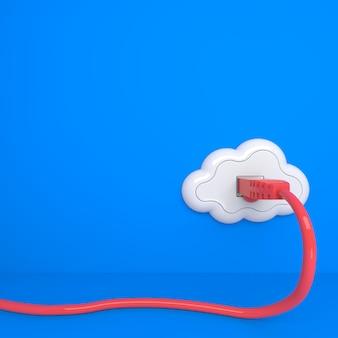 Cloud computing-concept. toekomst - alles van socket