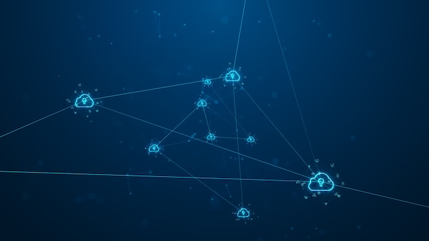 Cloud computing en big data-concept.