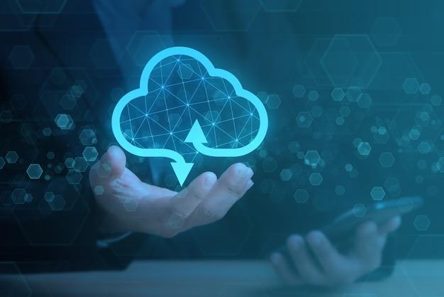 Cloud computing en netwerktechnologie concept