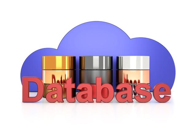 Cloud database-ontwerp in 3d-rendering