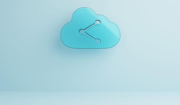Cloud opslag technologie concept