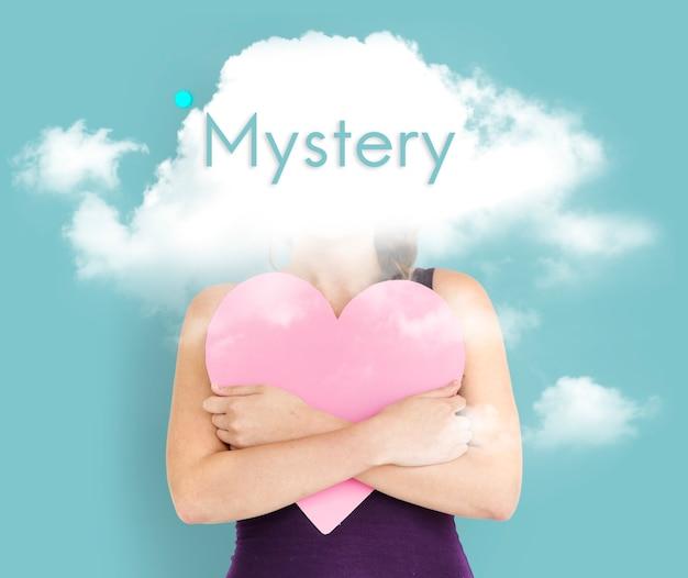 Cloud verborgen dilemma depressie gelukzaligheid
