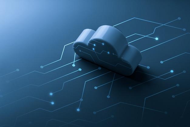 Cloudtechnologie voor online wereldwijd bedrijfsconcept
