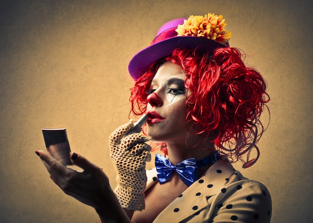 Clown make-up toe te passen