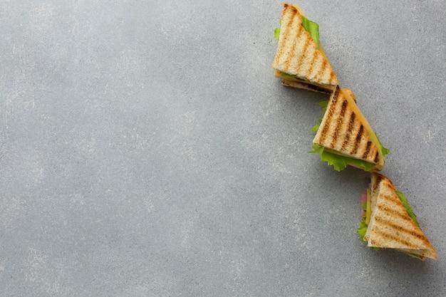 Club sandwich arrangement kopie ruimte