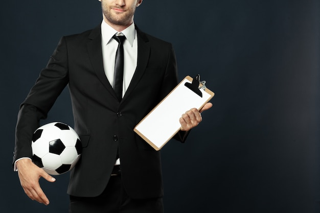 Coach, zakelijk, sport op zwart