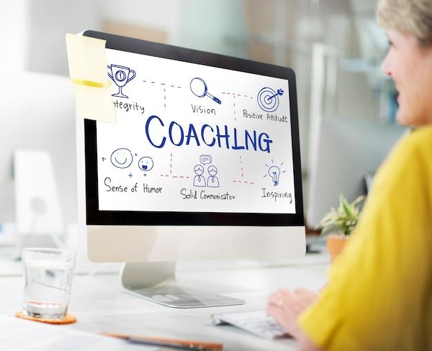 Coaching coach ontwikkeling educatief gids concept