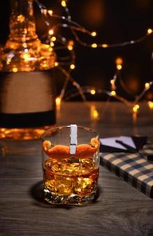 Cocktail sharpie snor versierde snor sinaasappelschil geweldig idee voor vaderdag