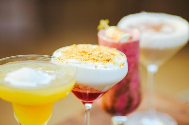 Cocktails in het restaurant.