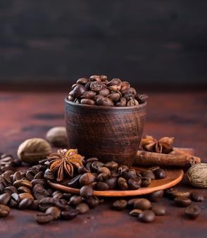 Coffe beens met kruiden