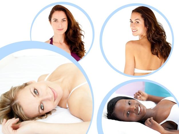 Collage van aantrekkelijke vrouwen