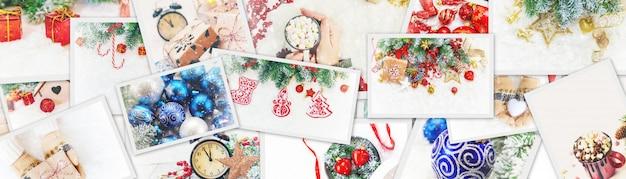 Collage van kerstafbeeldingen. feestdagen en evenementen.