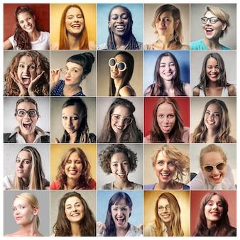 Collage van vrouwen