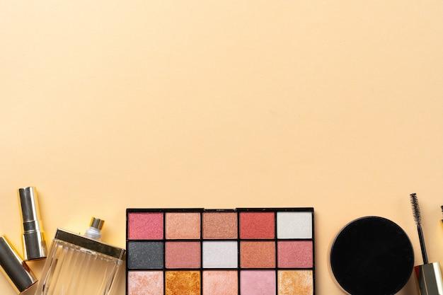 Collectie van cosmetica voor make-up artiest. detailopname