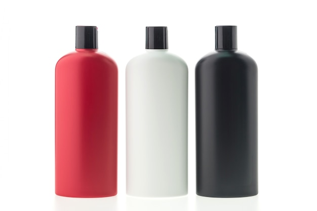 Collectie van drie shampoo container
