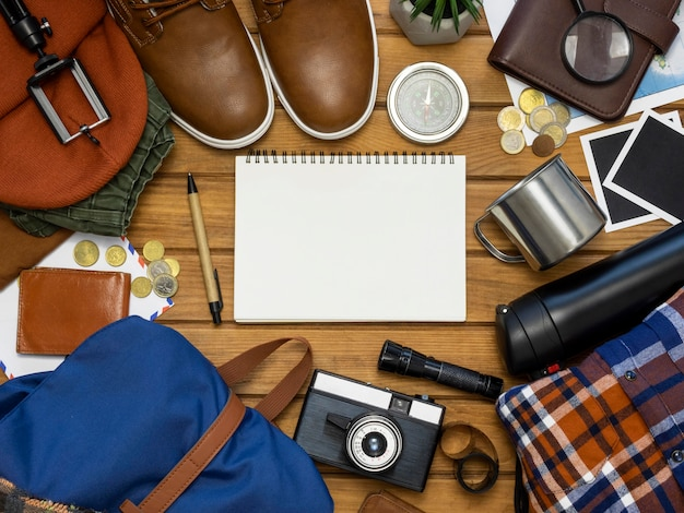Collectie van reisstillevens