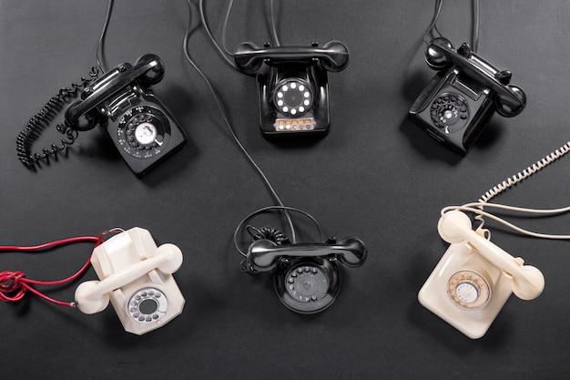 Collectie vintage telefooninstrumenten