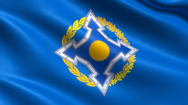 Collective security treaty organization flag