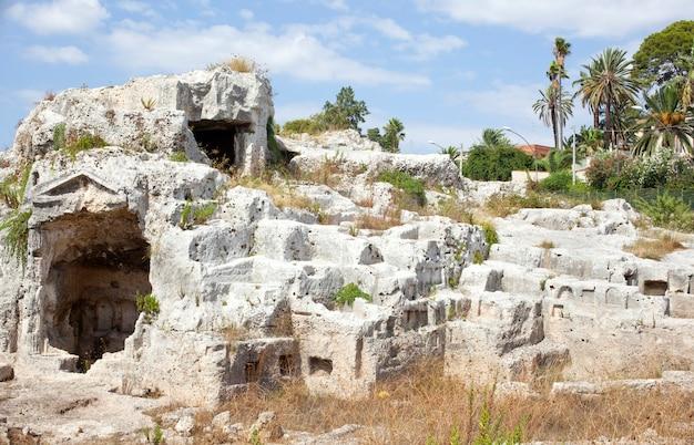 Colombario romano, syracuse - sicilië, italië