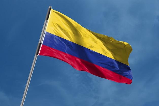 Colombia vlag zwaaien