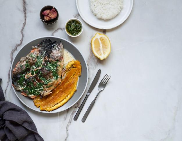 Colombiaans en mexicaans, venezuela eten, rivierforel