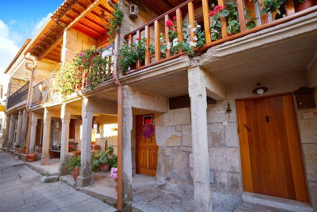 Combarro-dorp in pontevedra galicië spanje