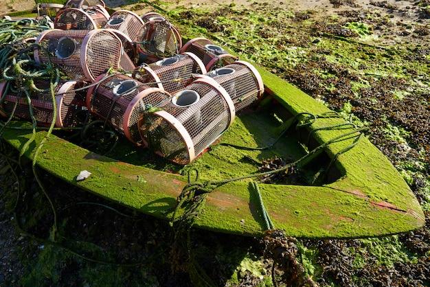 Combarro-uitrusting van de vissersboot in pontevedra