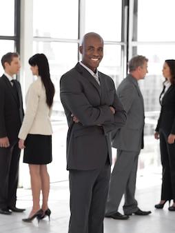 Commercieel team van volledige lengte